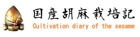 Logo 国産ごま・ゴマ・胡麻栽培記